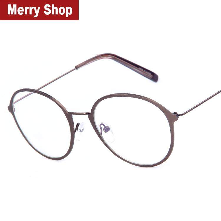 2015 new fashion eyeglasses frames men big metal glass frame women round punk glasses frame high quality 4 color