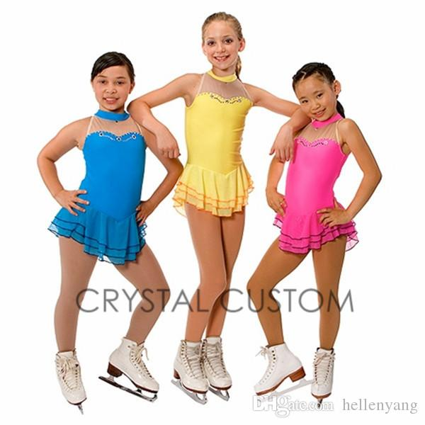 2015 Hot Sales Figure Ice Skating Dresses For Girls With Spandex ...