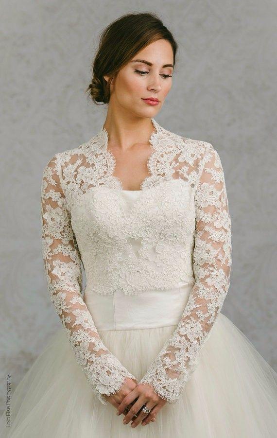 lace long sleeve bridal bolero 2016 custom made ivory v neck wedding jacket with button bride shrug wedding accessories lace long sleeve bridal bolero 2016