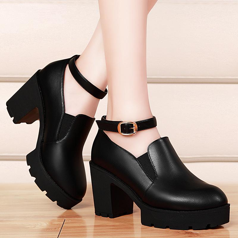 2015 Cheap Dress Shoes Wedge Shoes Buckle Shoes Almond Toe Shoes ...