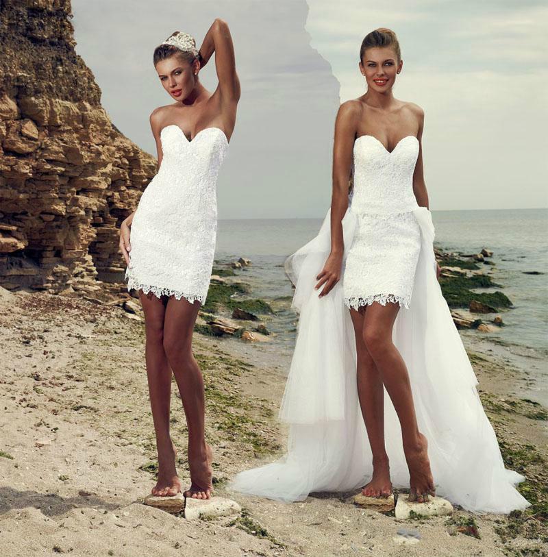 Короткие Свадебные Платья Для Пляжа