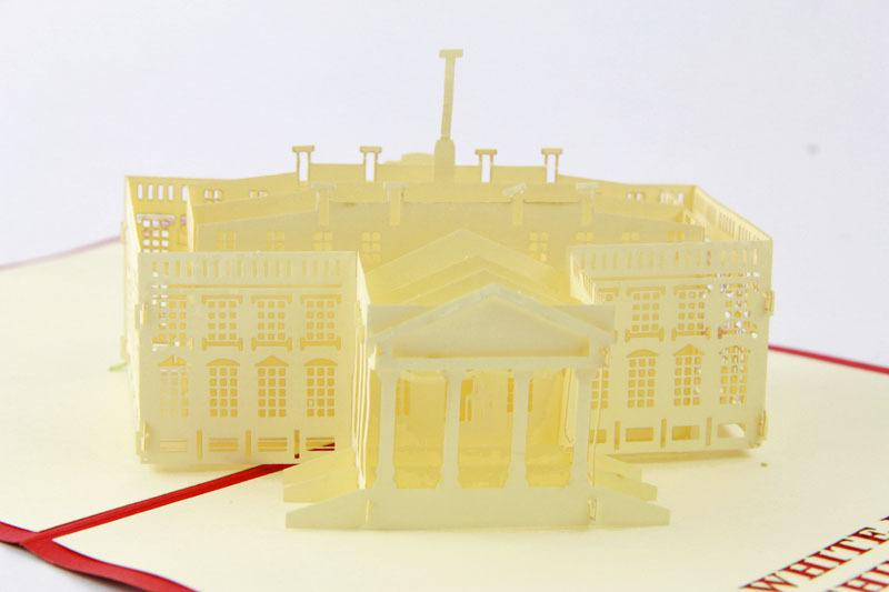 the white house d handmade card pop up gift greeting d, Birthday card