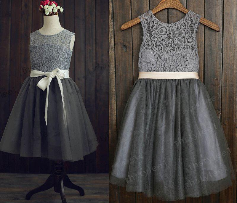 Dark gray flower girl dresses junoir bridesmaid dresses dark gray flower girl dresses 100 mightylinksfo Gallery