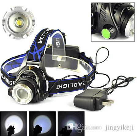 sales hunting 2000lm rechargeable head torch flashlight. Black Bedroom Furniture Sets. Home Design Ideas