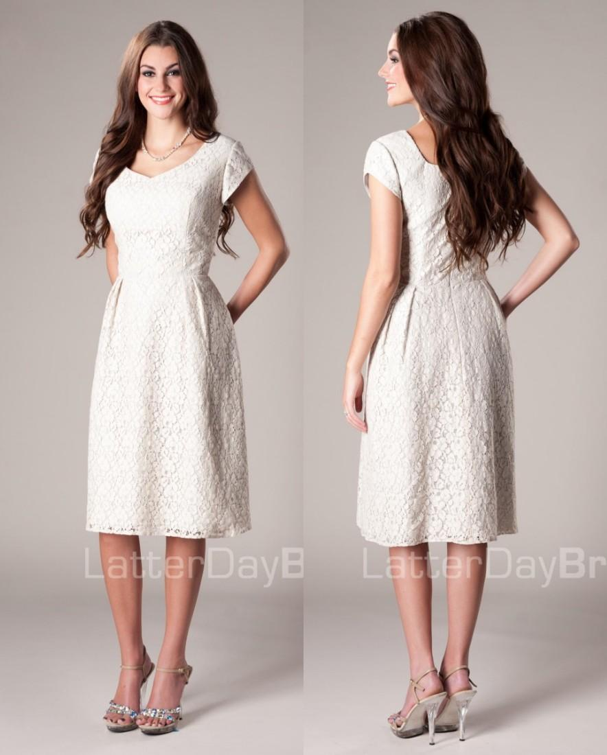 Buy vintage ivory a line lace short modest bridesmaid dresses cap dhgate vintage ivory a line lace short modest bridesmaid dresses cap sleeves knee length simple country ombrellifo Image collections