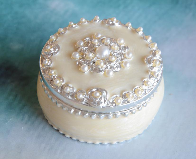 2017 Round Pearl Jewelry Box Decorative Wedding Crafts