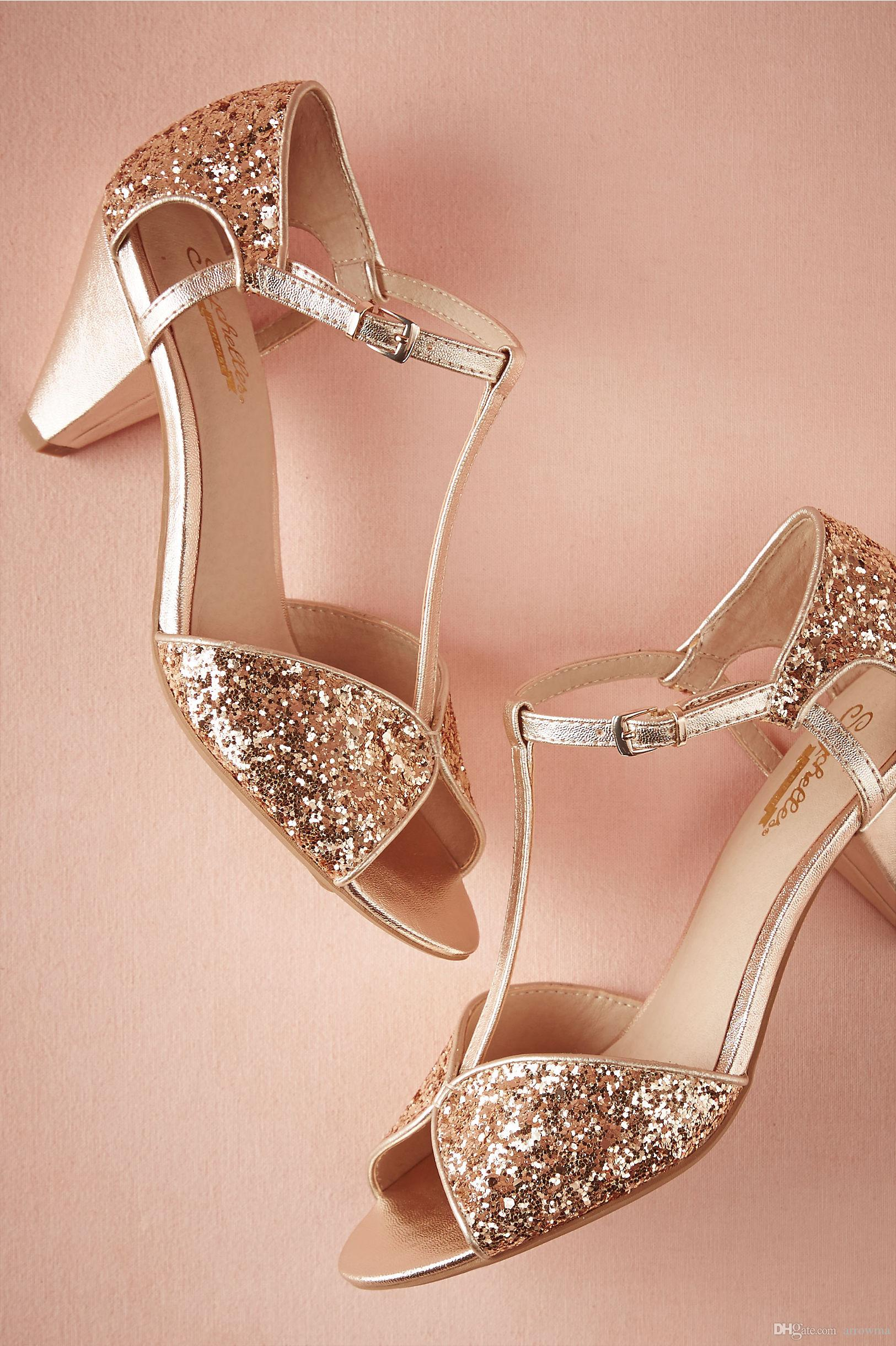 2016 plus size wedding shoes gold cheap modest bridal for Gold dress sandals for wedding