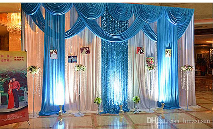 New Design Luxurious Decoration Blue Wedding Swag