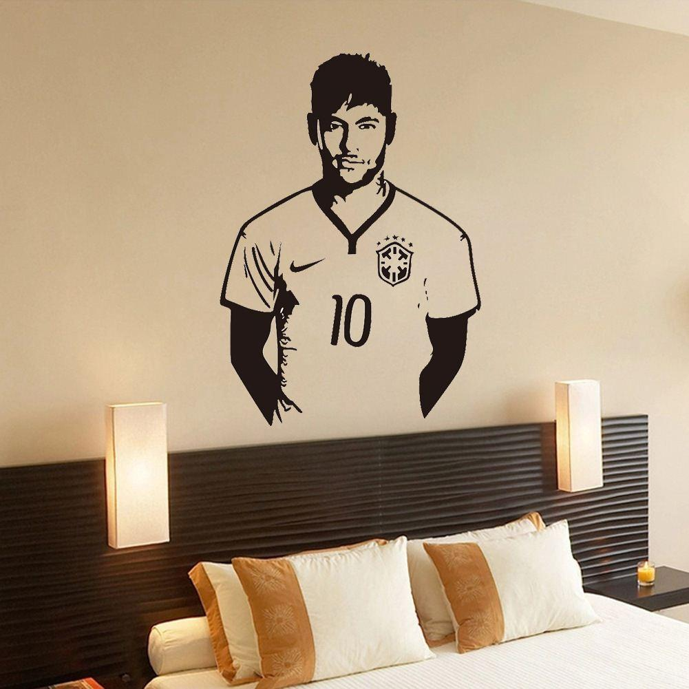 Aw9410 Football Celebrity Boy Neymar Bedroom Carved Decorative Wall Stickers  Removable Stickers Decorative Wall Stickers, Textile Furnishings Soft Home  ...