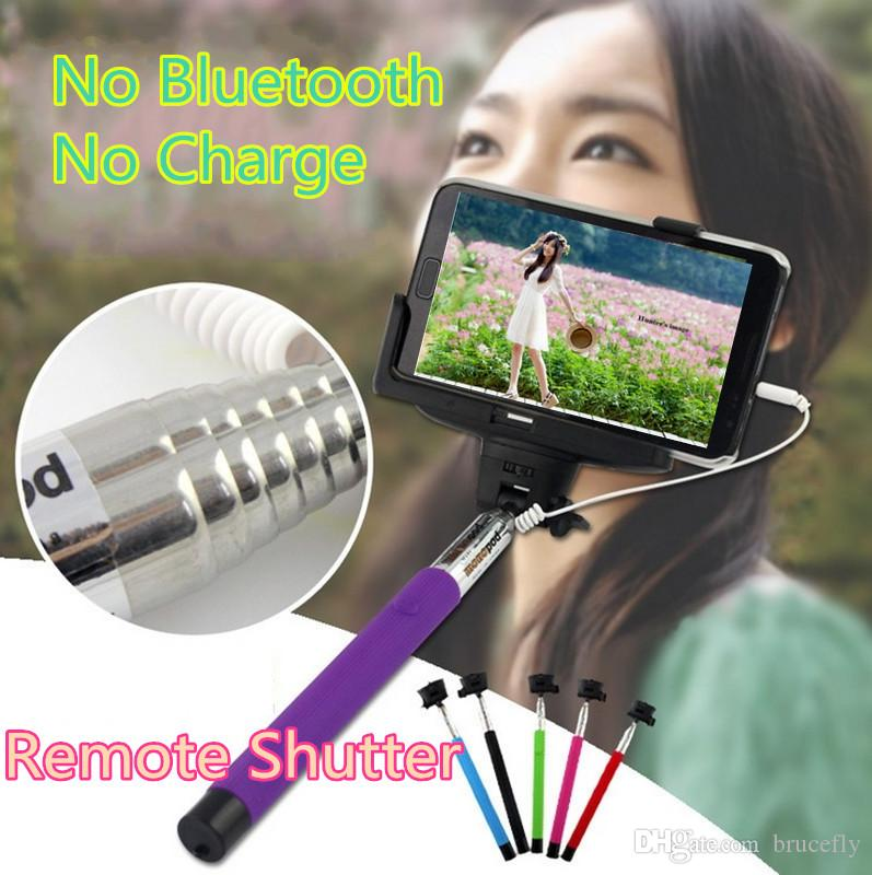 2017 z07 5s folding selfie stick monopod audio cable wired well fashion equipment for taking. Black Bedroom Furniture Sets. Home Design Ideas