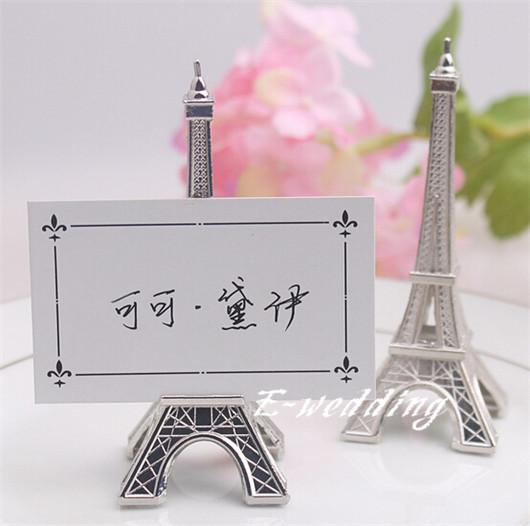 wedding favors eiffel tower name place card holder stand memo, Birthday card