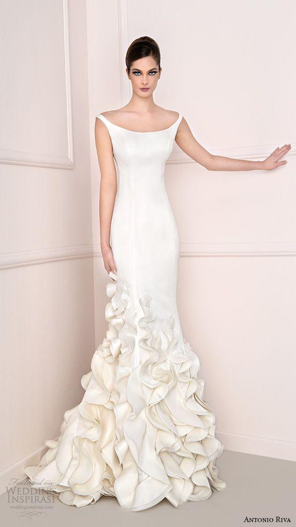 Antonio Riva 2016 Wedding Dresses Off Shouder Mermaid ...