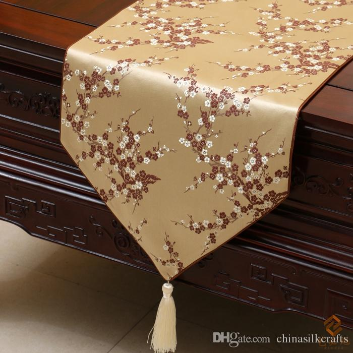 Modern Elegant Luxury Holiday Dining Table Runners Damask Cherry Blossoms  Decorative Table Cloth Fashion Bed Runner L200 X W 33cm Multicolor Dinner  Table ...