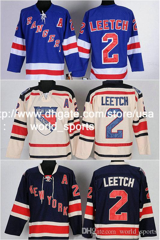2017 Ccm New York 2 Brian Leetch Rangers Light Blue Home ...