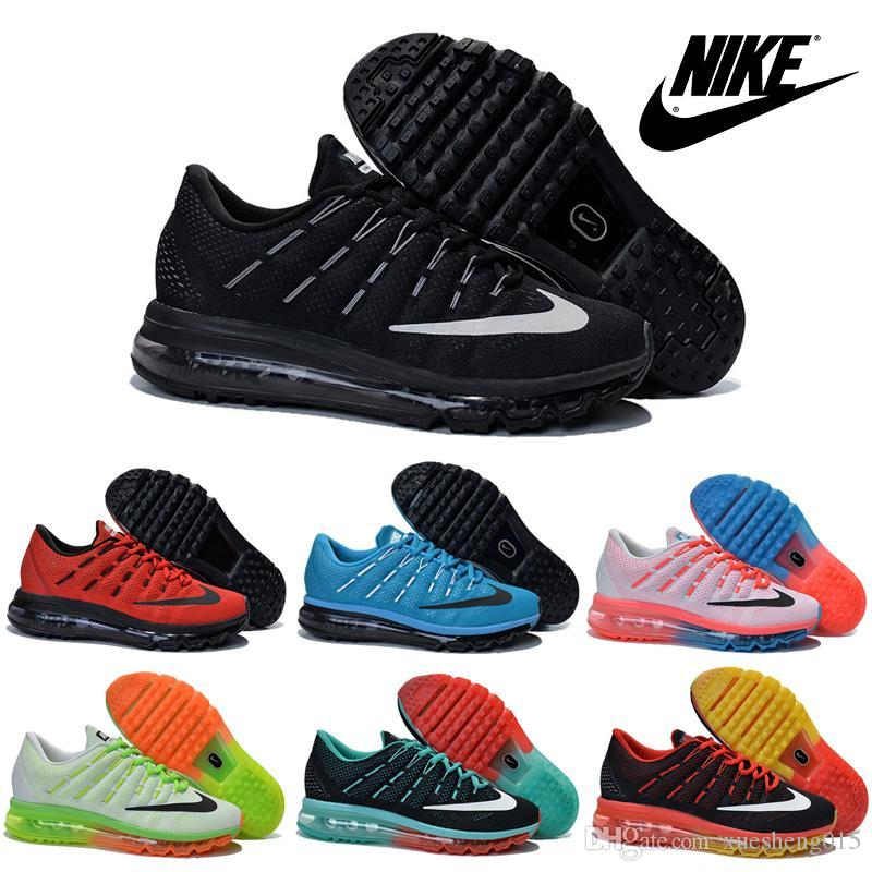 Fr11  Nike Flyknit Air Max 2016 Men S Blue Black Good Feeling Official Running Shoes Nike Discount Air Max 2016 Men  320 Nike Flyknit Air Max