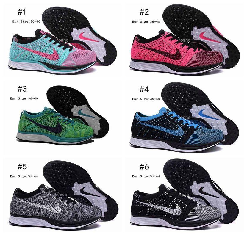 nike flyknit racer running shoes