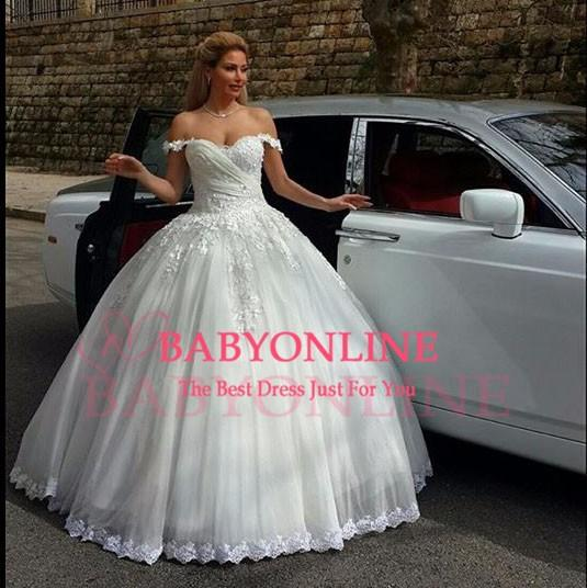 New Sexy Naja Saade Couture Lebanon Lace Appliques Ball Gown ...