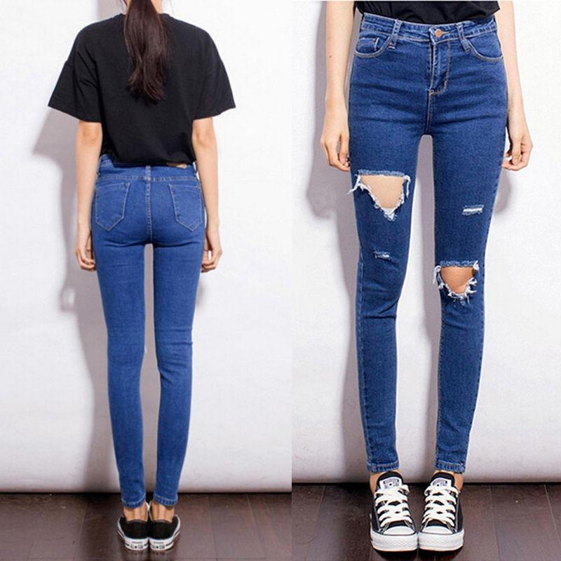 Online Cheap High Waist Plus Size 27 31 Jeans Women Skinny Pencil ...