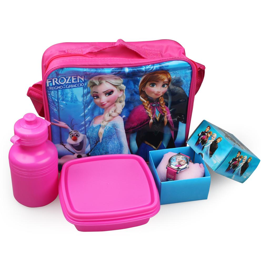 2017 Cartoon Frozen Lunch Box Set Lunch Bags Shoulder Bags