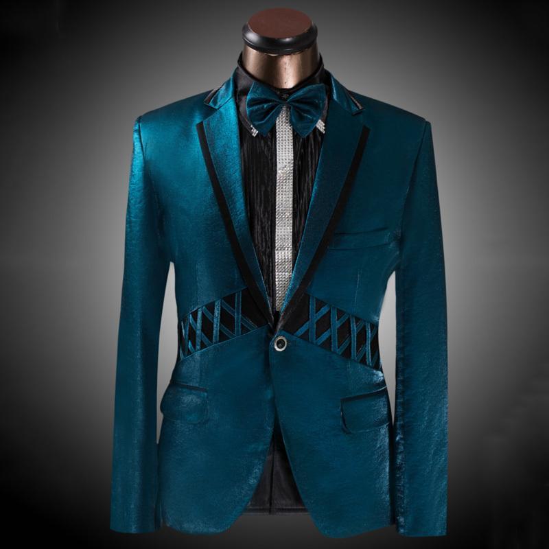 2017 Fg1509 2015 New Arrival Peacock Blue Men Suit Tuxedo ...