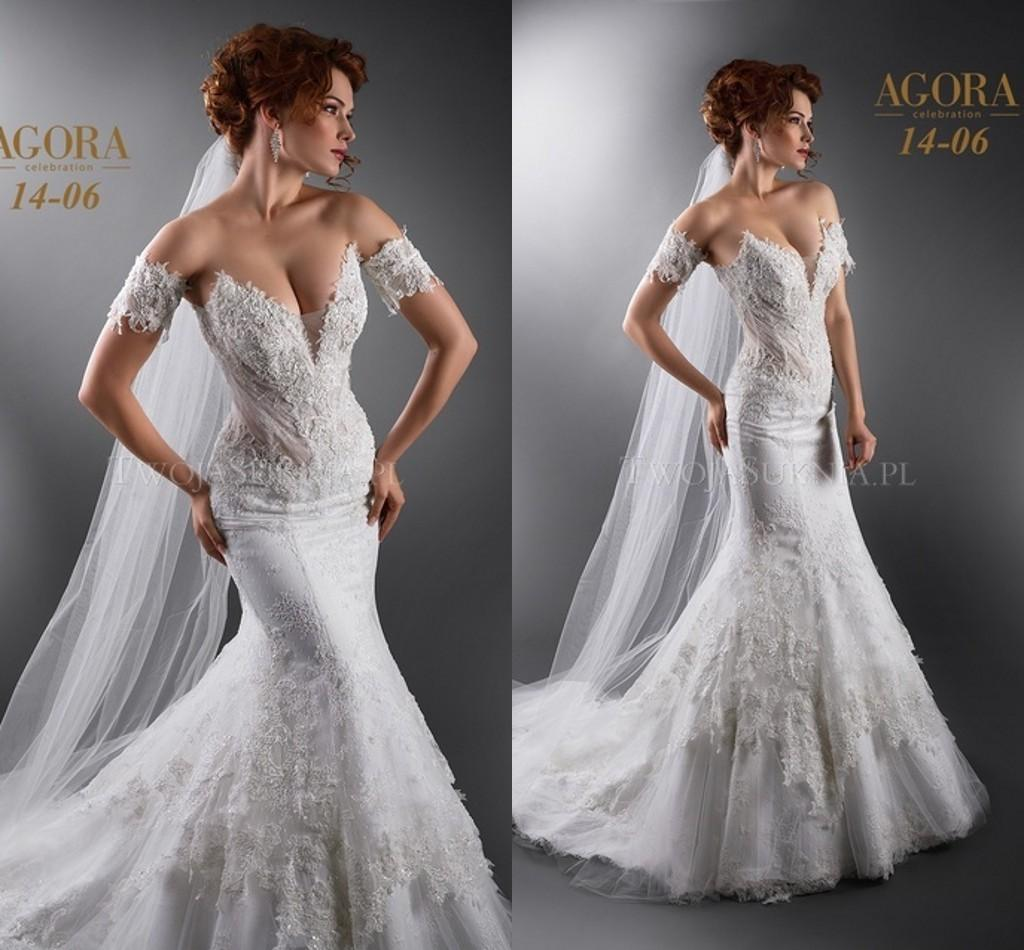 Agora 2015 y Plus Size Mermaid Wedding Dresses