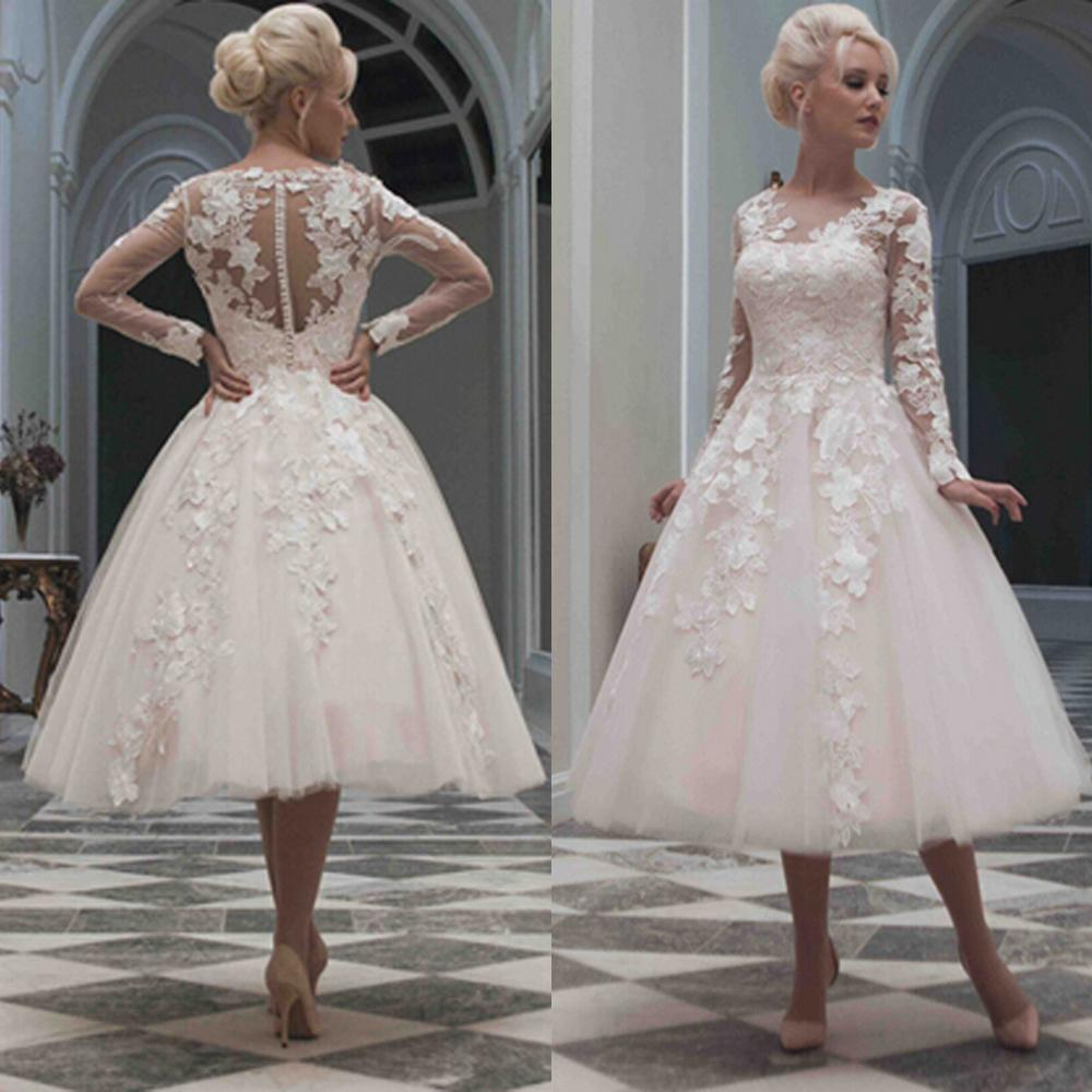 Short Wedding Dresses With Long Sleeves Www Pixshark Com