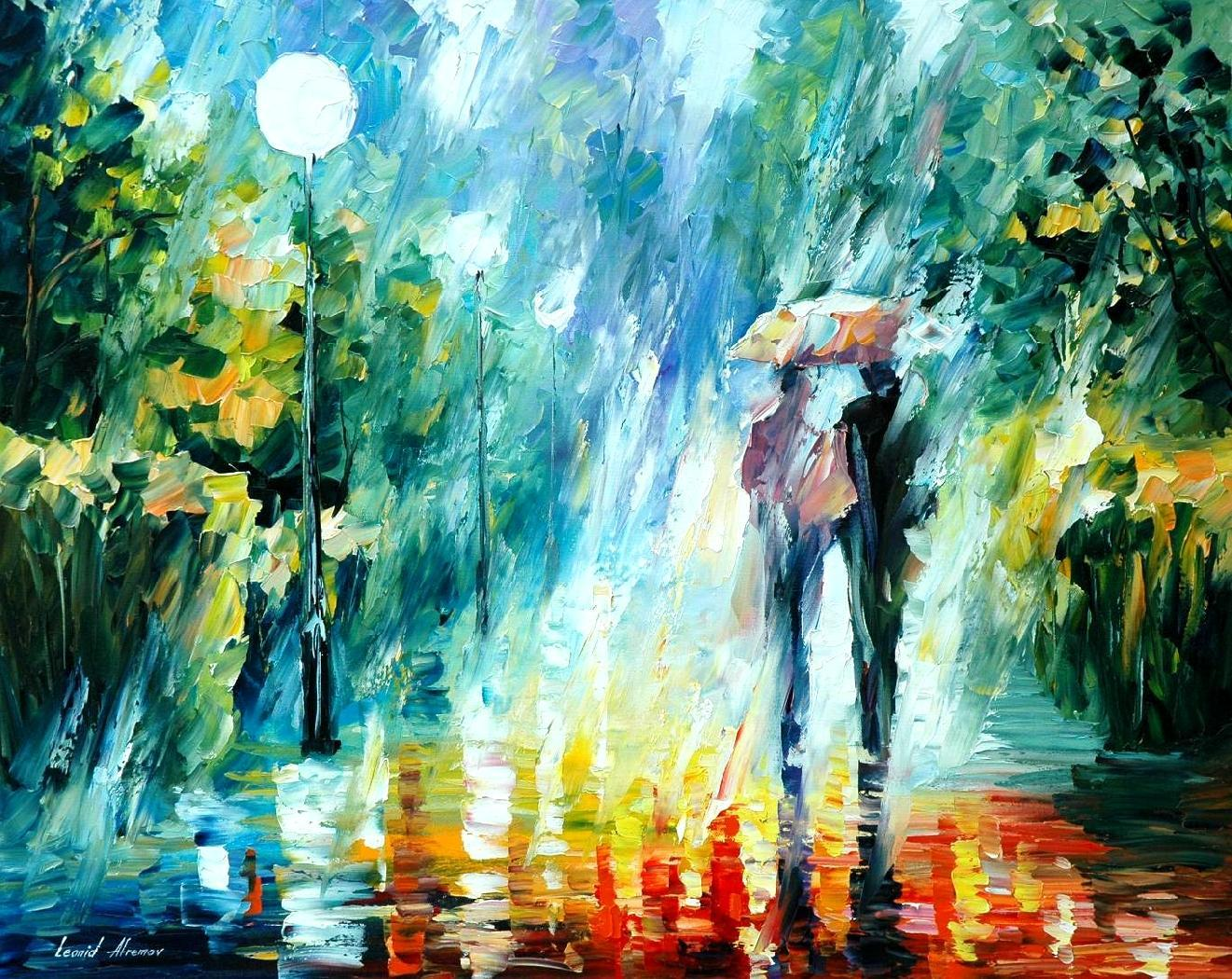 colors oil rain by leonid afremov art canvashigh leonid afremov paintings online with 26886piece on store