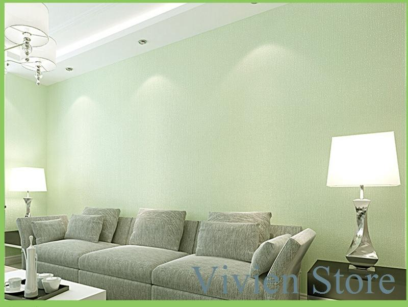 The new fashion non woven wallpaper simple 3d plain colour for Plain wallpaper for living room
