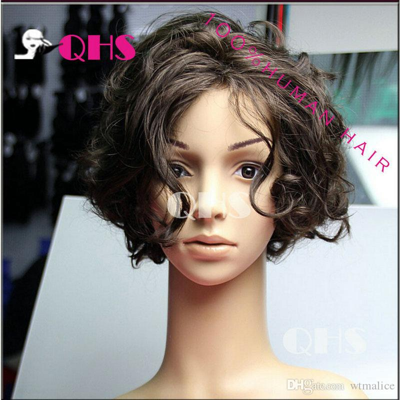 New Arrivel 7A Malaysian human hair wig sale short hair wig 8 inch ...