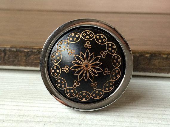 2017 black silver knob dresser knobs drawer knobs pulls - Black kitchen cabinet door knobs ...