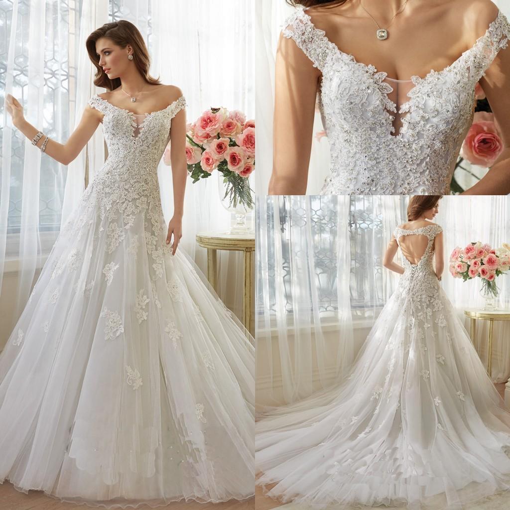 Sophia 2016 spring vintage wedding dresses a line off for A shaped wedding dresses