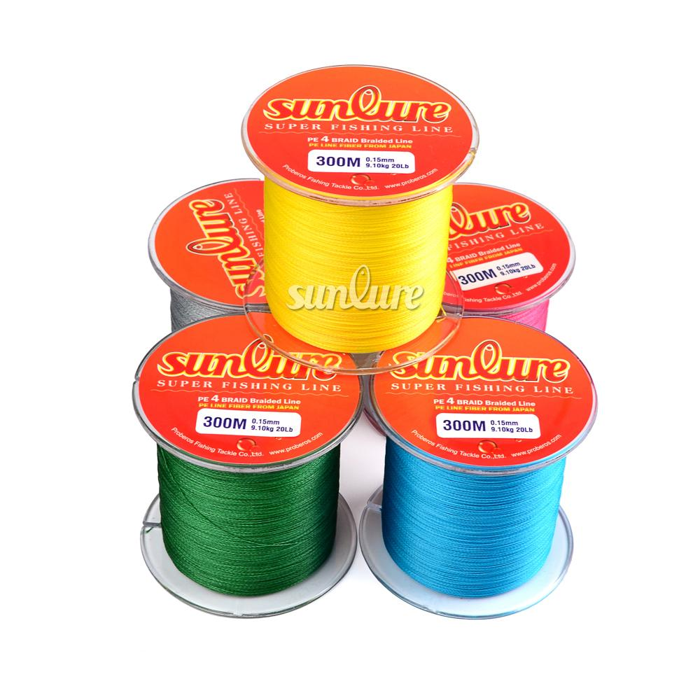Fishing fishing lines sunlure brand 300m 330yards for Best fishing line brand