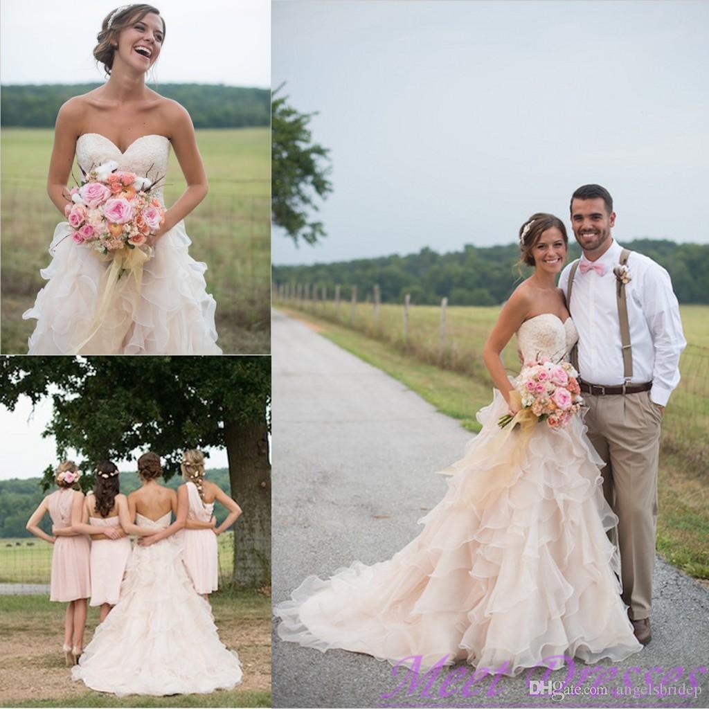 Discount Pale Pink Vintage Wedding Dresses Vestidos De Noivas ...