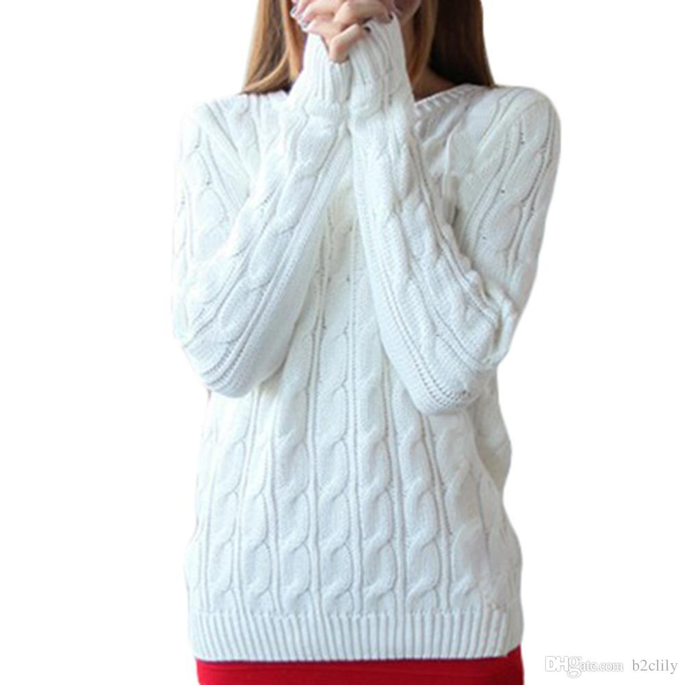 S5Q Women Winter Seagull College Wind Loose Long Sleeve Pullover ...