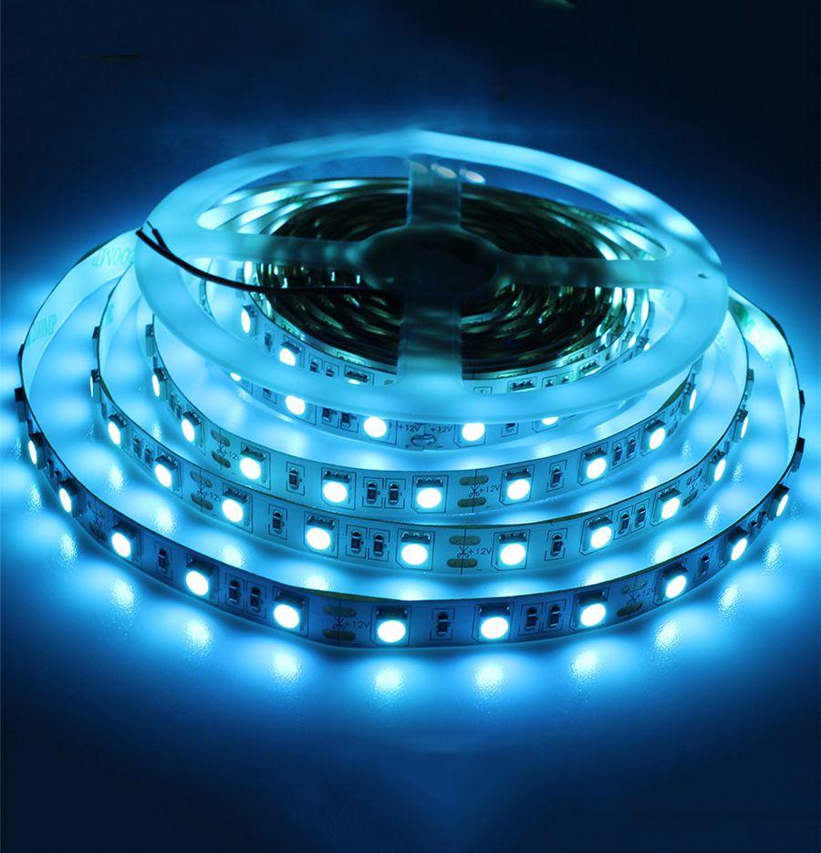 dc12v 5m 5050 smd ice blue 60leds m flexible led strip light non waterproof car home decoration. Black Bedroom Furniture Sets. Home Design Ideas