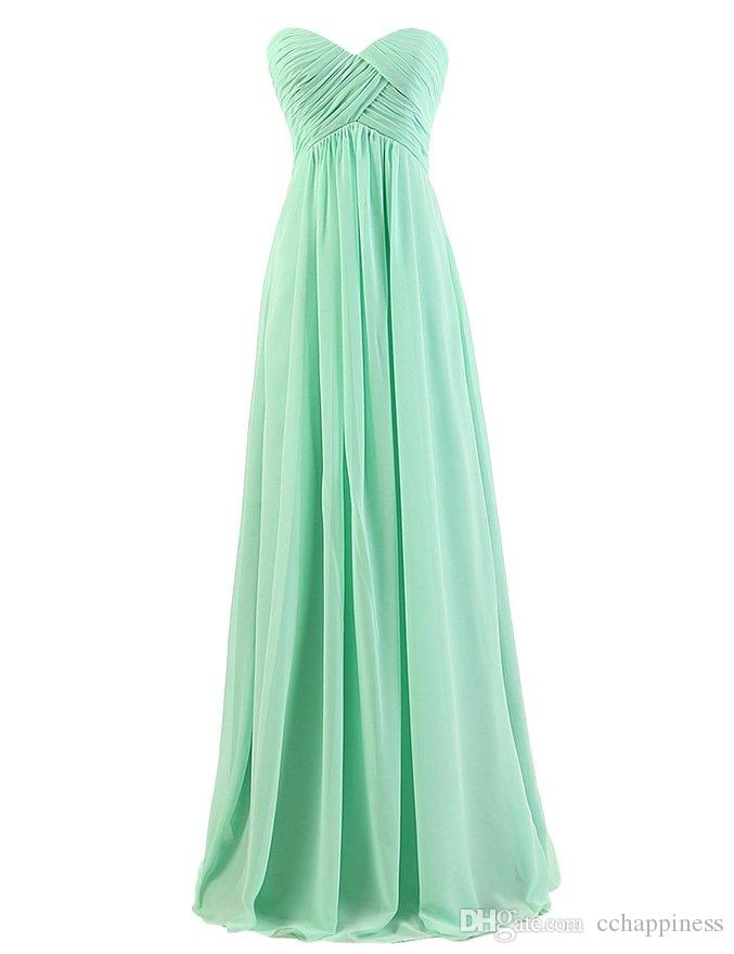 Chiffon bridesmaid dresses long prom gown evening dresses under 50