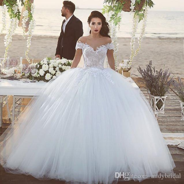 2016 Ball Gown Wedding Dresses With Off The Shoulder