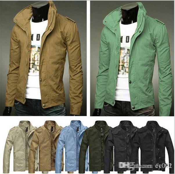 2016 New Mens Jackets And Coats Mens Jackets Cotton Outwear Mens