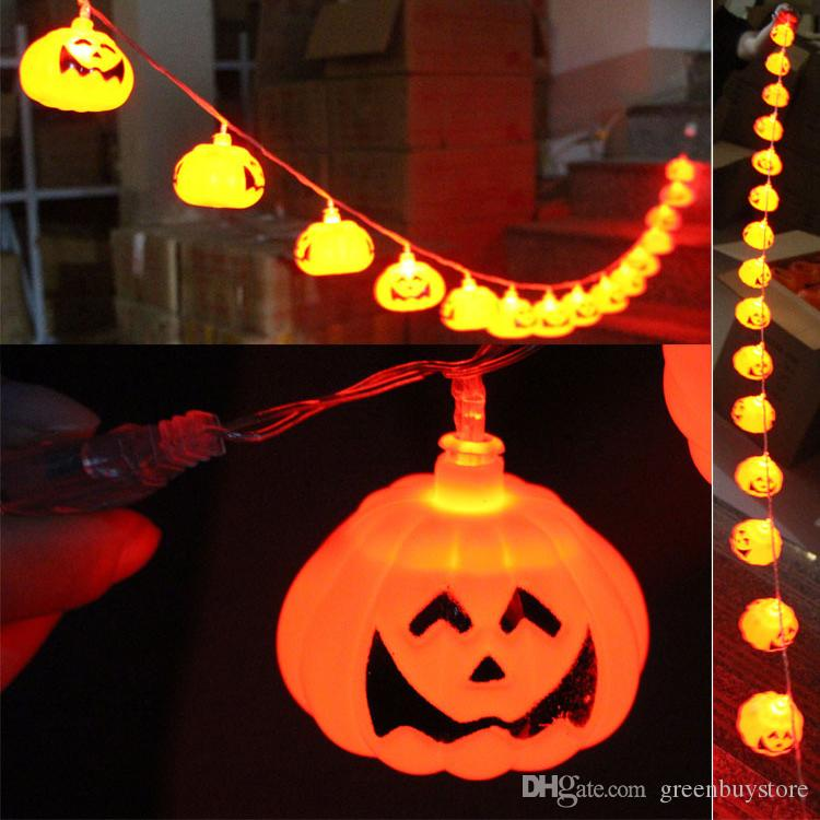 Halloween String Lights Indoor : 2017 2015 Halloween Props Decorative Outdoor/Indoor Flashing Plastic Pumpkin String Lights ...