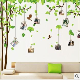 Wall Stickers Green Memory Tree Romance Decoration Wall Hangings Stickers  Wall Stickers Home Decor Stickers Wall