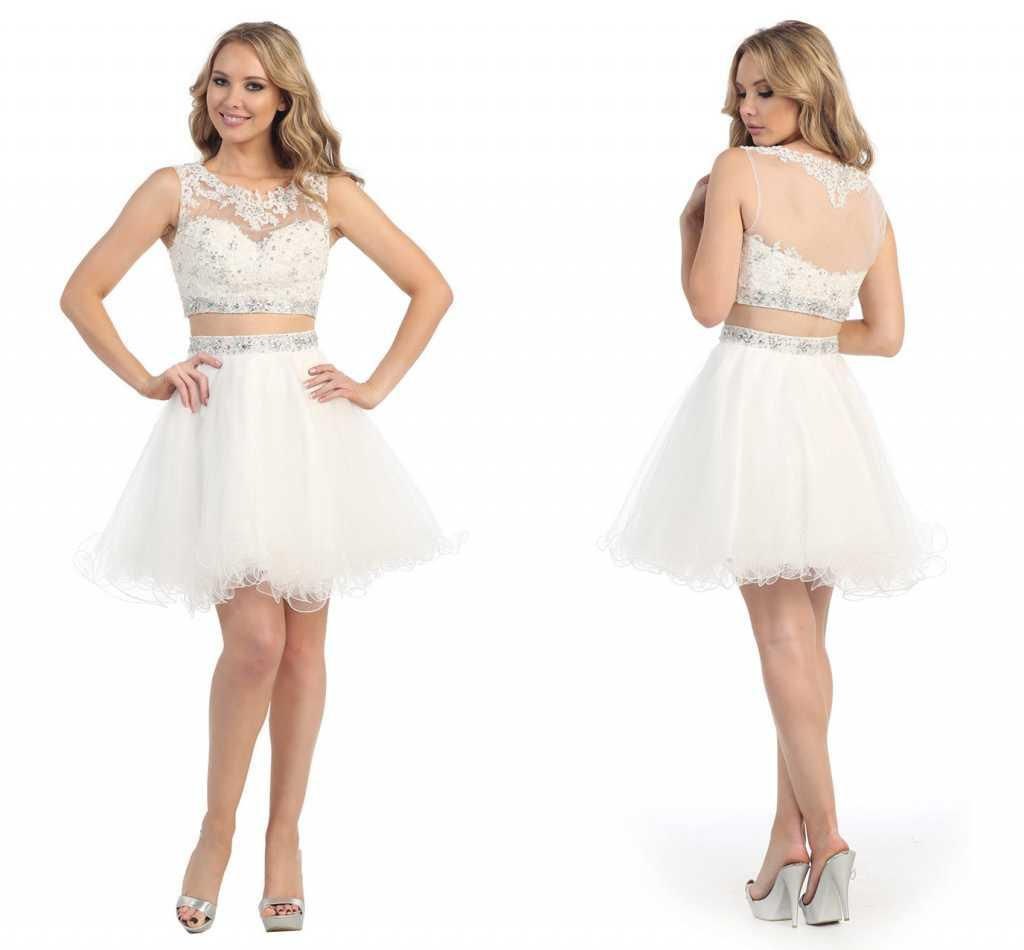 Cheap Graduation Dresses Short Party Dress 8th Grade White Prom ...