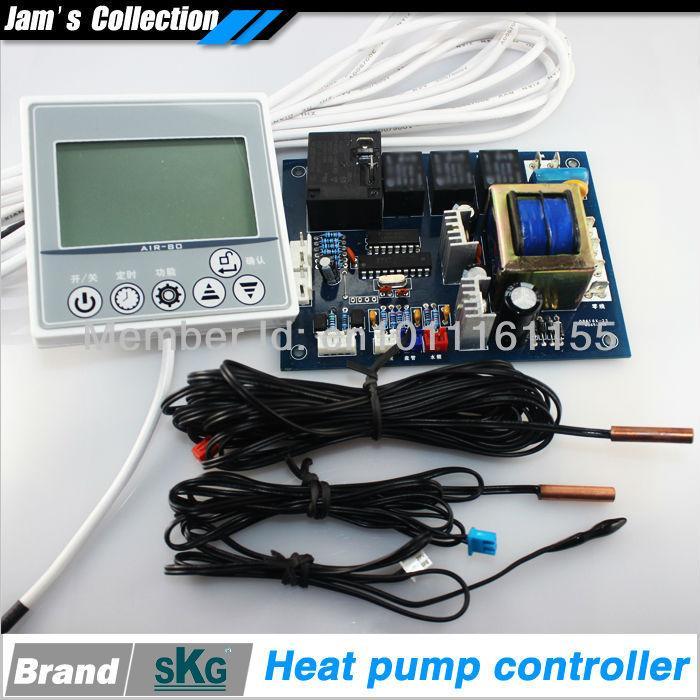 AIR-80 Air Source Heat Pump Controller Home Heat Pump PC Board Water Heater  Swimming Pool Heat Pump Controller Control Engine Control Parking Control  Damper ...