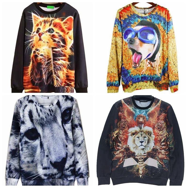 Wholesale Cheap Casual Men Hoodies 3D Harajuku Cute Cat Print Sportswear Male Sweatshirt Masculino Hombre N3D023 Online with $34.17/Piece on Xingyan03's