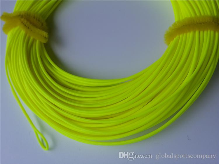 Fluorescent yellow floating fishing line fly lineswf 4f wf for Fluorescent fishing line