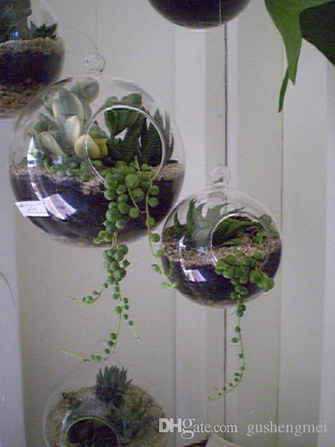 3pcs Set Glass Globe Terrariums Hanging Candles Holder Wedding Candlestick Garden Decor Home Decor