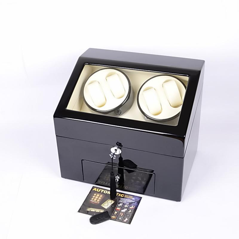 wholesale luxury wooden automatic watch winder selfwinding box 49 watches watch winders 5 timing proprams high quality watch winder winders online with - Automatic Watch Winder