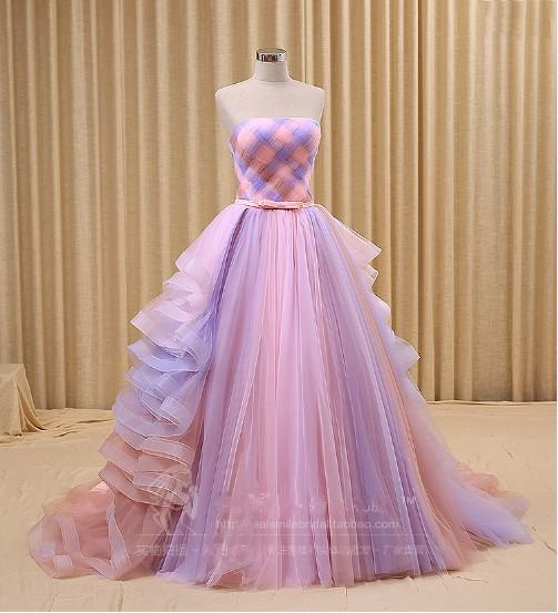 Discount 2016 Multi Color Wedding Dresses A Line New