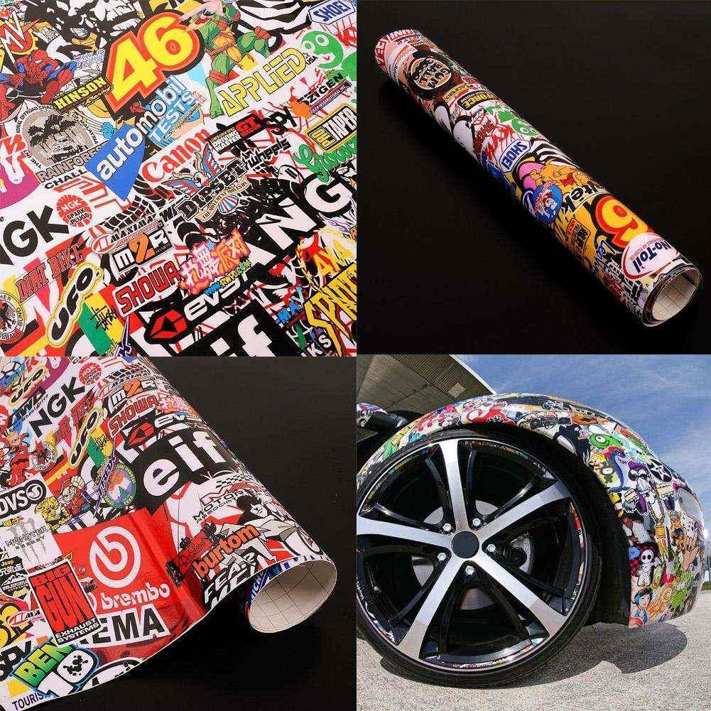 Bike sticker design online - 2017 Graffiti Bike Stickers Graffiti Cartoon Jdm Bomb Car Snowboard Bike Decor Decal Phone 20