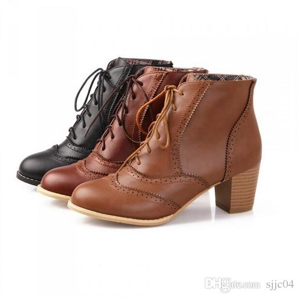 Lace Up Ankle Boots Womens - Yu Boots
