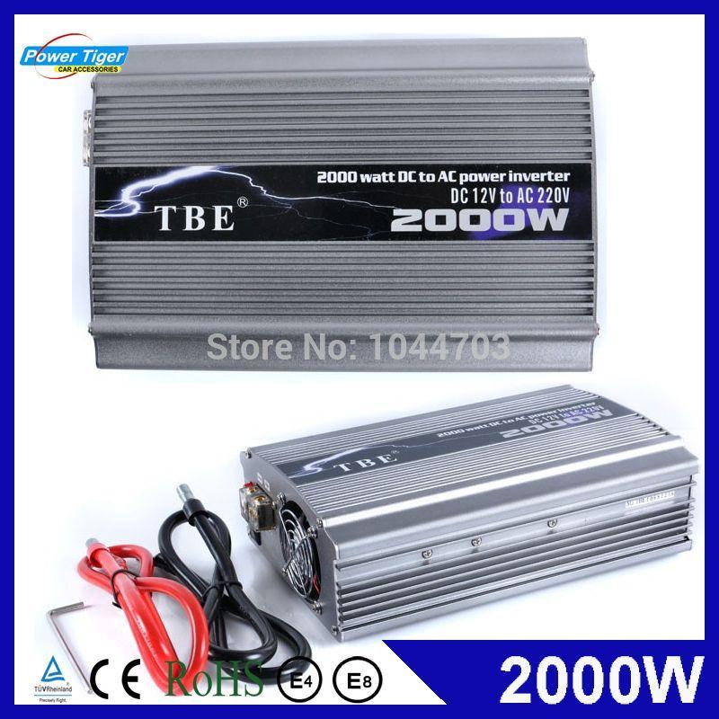 tbe 2000w dc 12v 24v 48v to ac 220v 110v compact portable auto power inverter charger converter. Black Bedroom Furniture Sets. Home Design Ideas